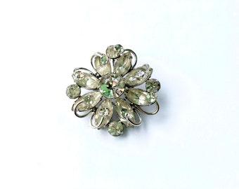 Gorgeous Rhinestone Brooch Pendant Combo Vintage Glamour Fashion Jewelry