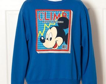 Vintage 80s MICKEY MOUSE Sweatshirt - CLIMB Man of the Year - xl