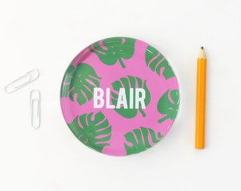 Girls Desk Accessories Personalized Paperweight Tropical Leaf Glass Paperweight Girls Office Supplies Custom Paper Weight New Job Gifts
