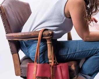 """Handmade leather tote - """"Maria"""" tote bag"""