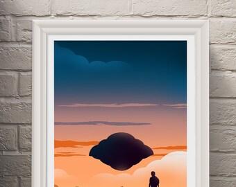 Flight of the Navigator Poster Art Print, Movie Poster, Minimalist Art Print