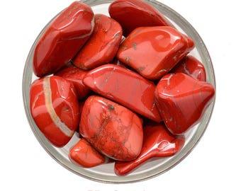 1 Jumbo RED JASPER Tumbled Stone Strength Stability Courage Quartz Combination Healing Crystal and Stone #RJ21