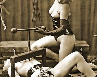MATURE... Love Machine... Instant Digital Download... 1930's Vintage Nude Fetish Photo