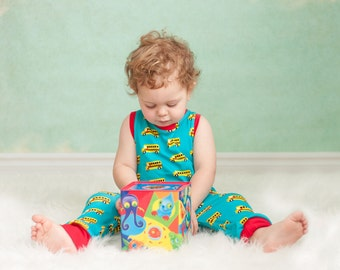 School Bus Romper - Baby romper - Toddler romper - Boy Romper - Girl romper - Knit Fabric Romper - Preschool Romper- Baby Clothing - Unisex