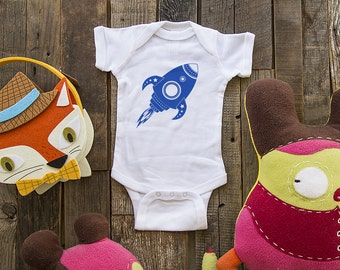 Rocket ship design 2 Baby one piece or shirt, Infant Tee, Toddler Youth T-Shirts