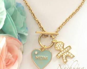 New Mom Gift, Mommy and Me Bracelet, Mom Bracelet, Mom of Boys, Boy Mama, Mothers Day Gift, Mom Jewelry, Gold Stainless Steel Bracelet,