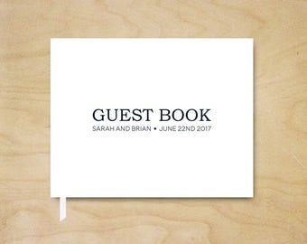 Guest Book, Wedding Guest Book, Simple Reception Guest Book, Bridal Shower Guest Book, Custom Guest Book, Hardcover Guestbook, Wedding Gift