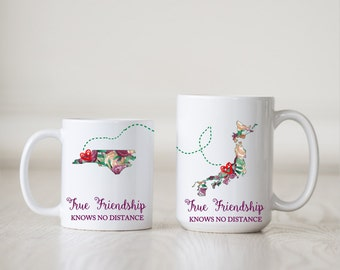 Best Friend Mug - Long Distance Friendship Gift - Friendship Long Distance - Friendship Distance - 11 or 15 oz White Mug