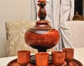 Wooden Siberian Drinking Set