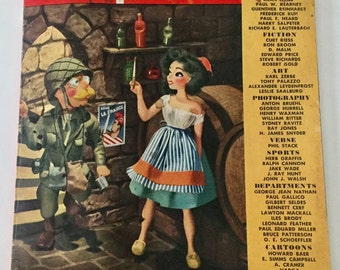 Vintage October 1944 Esquire Magazine Vargas Varga Centerfold 195 Pages