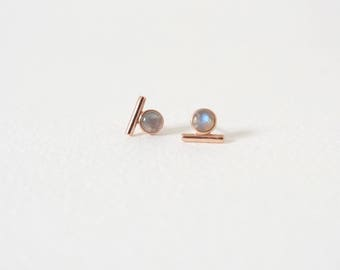 NEW Bar Earstuds - Labradorite Earrings, Bridesmaids Gift, Gifts for Her