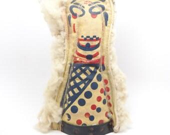 Vintage Carnival Knock Down Punk, Americana Folk Art Circus Clown Doll