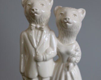 Bear Wedding Cake Topper Handmade