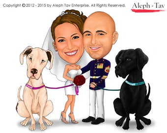 Unique wedding invitation card/without background/saves the date/engagement/digital caricature/caricature wedding card/digital softcopy