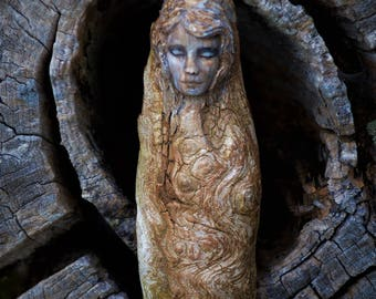Reserved for Abbegail, July 3 of 3, The Seawood Mermaid, Driftwood Sculpture by ShapingSpirit
