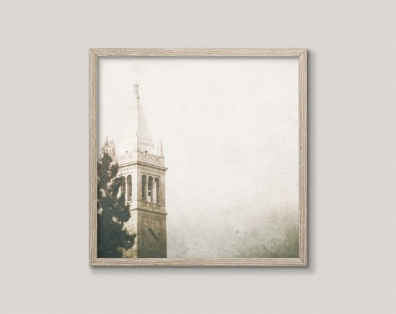 FOG OF KNOWLEDGE | Church photography | Berkeley photo | textured art print | gothic wall decor | church architecture fine art print | gift