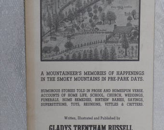 It Happened in the Smokies...A Mountaineer's Memories Book by Gladys Trentham Russell