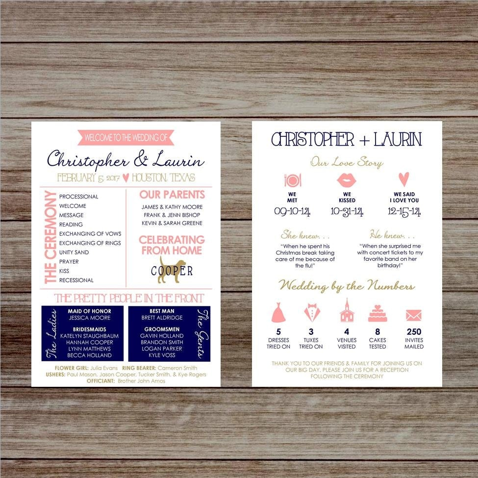 Infographic wedding program wedding program printable for Wedding program info