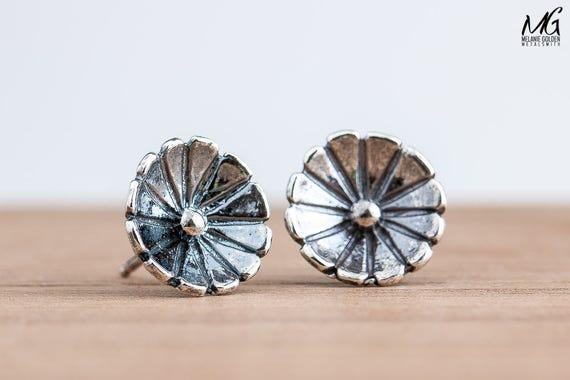 Wildflower Stud Earrings in Sterling Silver