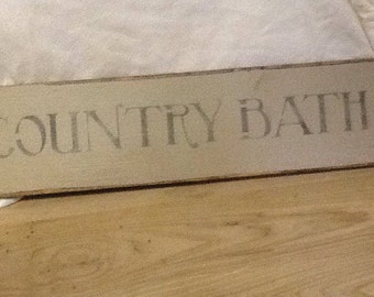 Finest Primitive Distressed Rustic Bathroom Sign Decor Country Bath Wooden With Wood Signs