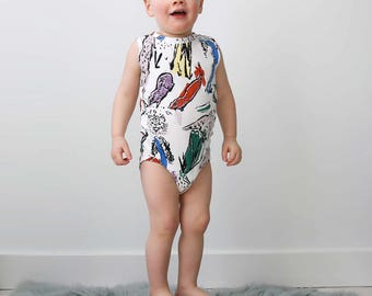 Animal Kingdom Onesie on White