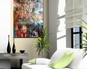 """HUGE SALE Original Abstract Mixed Media Neo-expressionist Painting on canvas ready to hang - """"Venus Annoyed"""""""