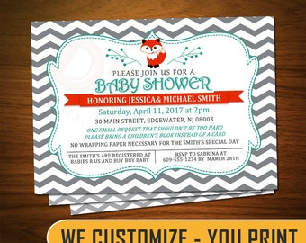 Custom Fox Baby Shower Invitation 5x7 - KDCYP0003