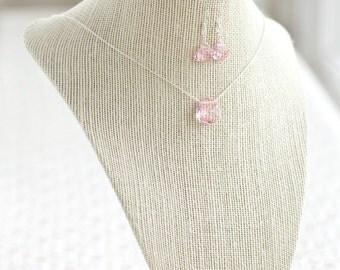 Swarovski Crystal Jewelry, Bridesmaid Gifts, Necklace & Earrings Set, Teardrop Necklace, Teardrop Earrings, Bridesmaid Jewelry, Gift for Her