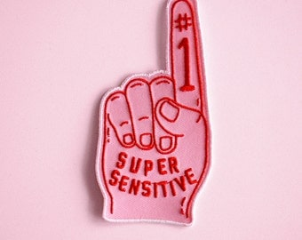 Super Sensitive iron-on embroidered patch