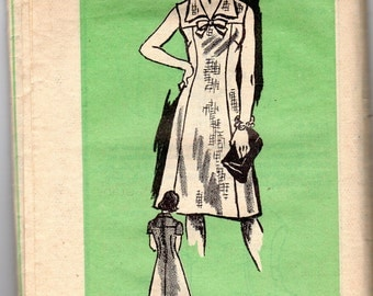 "1970s Women's Sleeveless, Short Sleeve or Long Sleeve Dress Pattern - Size 12 1/2, Bust 35"" - Mail Order Pattern #4921"