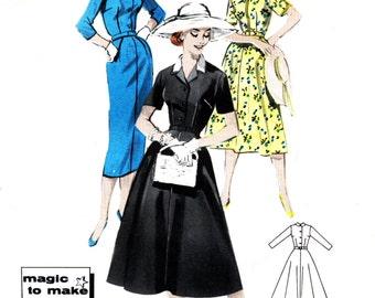Butterick 8426 Dress Sewing Pattern 1950's Bust 40 Vintage Size 20