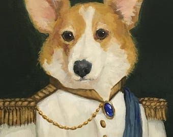 Classical Custom Pet and Animal Portraits - 10x8 inch Acrylic Painting