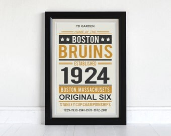 Boston Bruins - Screen Printed Poster