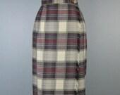Plaid Blanket Skirt / Vtg...