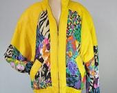 Leather Jacket / Vtg 80s ...