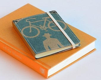 Upcycled Mini Journal- Urban Bicycle Edition, Ready to Ship