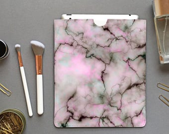 Pastel marble alphabet iPad sleeve - minimal style, pastel marble, marble iPad case, marble iPad mini sleeve, marbled case, marble leather
