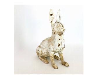 Vintage Hubley Cast Iron Bunny Rabbit Doorstop