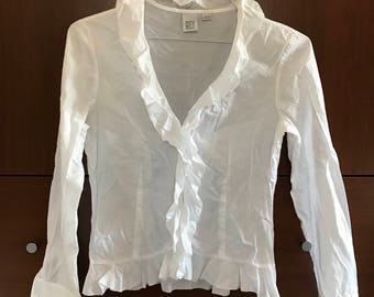 Lovely White DKNY Cotton Blouse