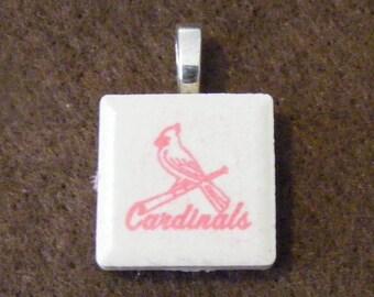 St Louis Cardinals - Laser engraved Ceramic Tile Pendant