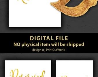 Reserved sign Printable Gold foil wedding sign reserved sign template DIY Bride Table reserved Bridal shower sign Instant download
