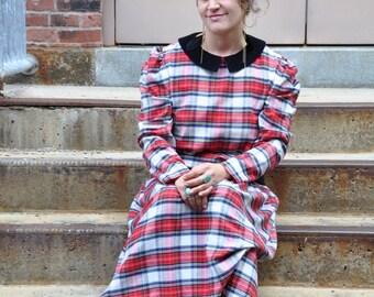 Flannel Maxi Dress Etsy