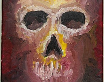 Emergent Skull Original Oil Painting 10x8