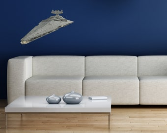 Star Destroyer Star Wars High Resolution Image on Reusable Adhesive Fabric | spaceship decal space themed bedroom star wars movie spaceship