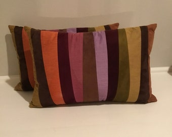 Pair Crate and Barrel decorative pillows