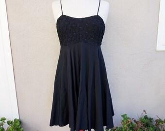90s Little Back Dress, Spaghetti Strap Short Black Dress, Black Party Dress, Casual Black Dress, 90s Clothing, 90s Grunge