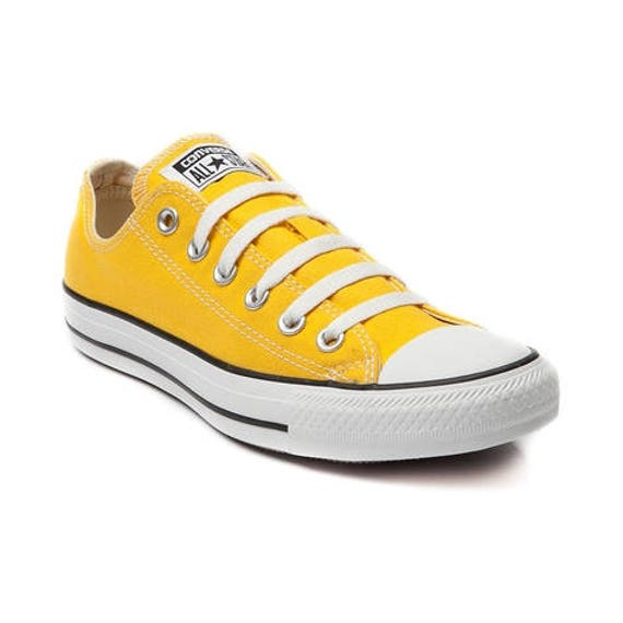 Yellow Converse Low Top Men Lady Summer Lemon Custom w/ Swarovski Crystal Rhinestone Bling Wedding Kicks Chuck Taylor All Star Sneaker Shoe