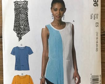 UNCUT Misses' Blouse Sewing Pattern McCall's 7196 Size 6-8-10-12-14-16-18-20-22 Tunic, Shirt, Tank Top