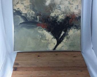 Mid Century Modern / Tom Hayward / Abstract Original Art Painting / Mid century modern Decor