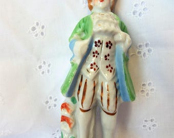 Colonial Figurine of a Man Porcelain Made in Japan